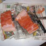 Соленая красная рыба по-архангельски