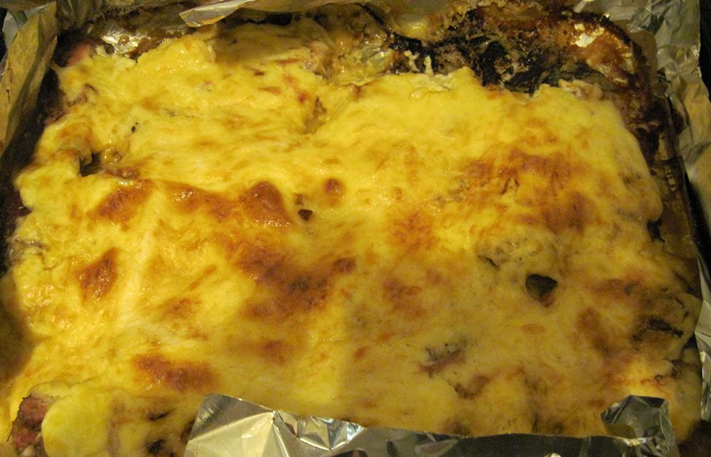 Свинина под сливочно-сырным соусом