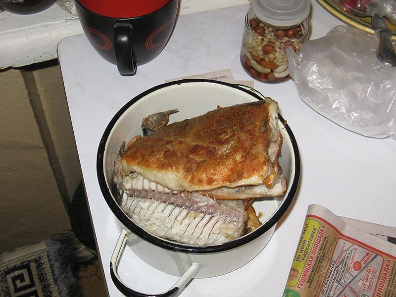 Жареная рыба (дорадо)